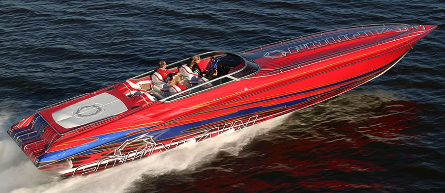 Website chat from BoatChat is an ideal way to engage boaters shopping for a Fountain 47 Lightning