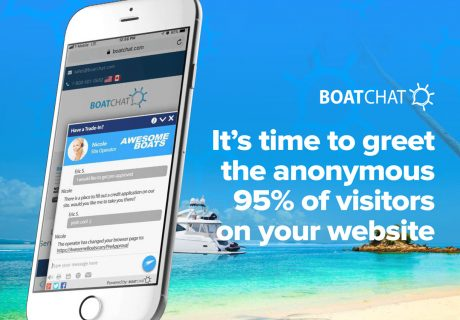 It's time to greet the anonymous 95% of visitors on our boat dealership website.