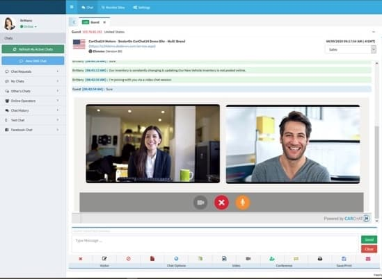 video chat console